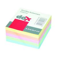 Bloczek kostka OFFICE PRODUCTS 8,5x8,5x4cm klejona kolorowa
