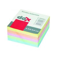 Bloczek kostka OFFICE PRODUCTS 8,5x8,5x4cm nieklejona kolorowa