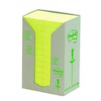 Bloczek samoprzylepny ekologiczny Post-it 38x51mm żółty 24szt.