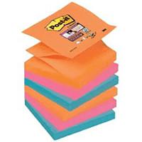 Bloczek samoprzylepny Post-it Z-Notes kolory promienne 6szt.