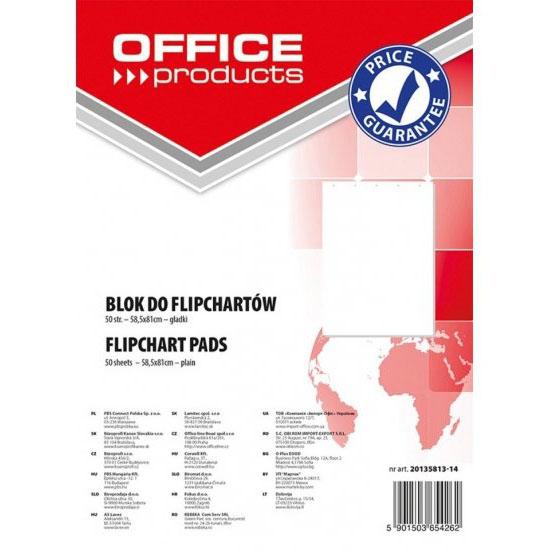 Blok do flipcharta OFFICE PRODUCTS 58,5x81cm 50 kartek gładki