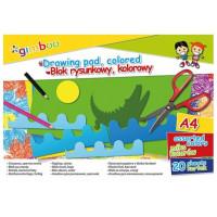 Blok rysunkowy Gimboo A4 20k 70gsm kolorowy