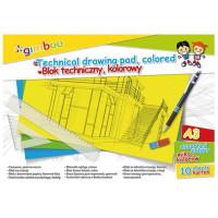 Blok techniczny Gimboo A3 10k 150gsm kolorowy