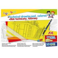 Blok techniczny Gimboo A4 10k 150gsm kolorowy