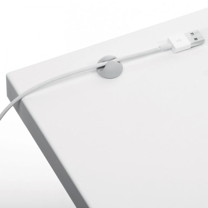 CAVOLINE CLIP 1 samoprzylepne klipsy na 1 kabel, 6 sztuk, szary
