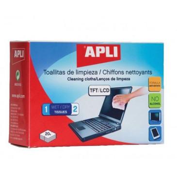 Chusteczki do czyszczenia ekranów TFT/LCD APLI 20szt.