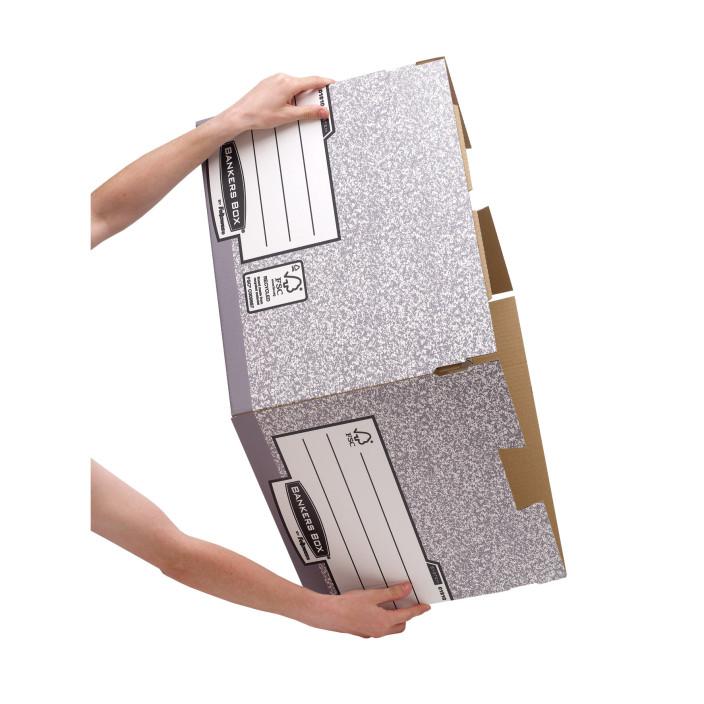 Duże pudło na archiwa FELLOWES Bankers Box System z FSC FastFold, opakowanie 10 szt.