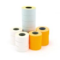 Etykiety do metkownic APLI jednorzędowe prostokątne 21x12mm pomarańczowe pernamentne 6 szt.