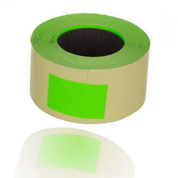 Etykiety do metkownic dwurzędowa prosta zielona 26x16mm