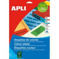 Etykiety kolorowe APLI AP1601 210x297mm zielone 20ark.