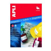 Etykiety poliestrowe wodoodporne APLI AP10066 45,7x21,2mm srebrne 20ark.