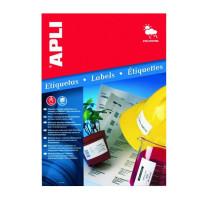 Etykiety poliestrowe wodoodporne APLI AP10070 63,5x29,6mm srebrne 20ark.