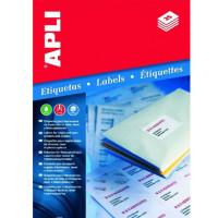 Etykiety uniwersalne APLI AP1284 52,5x21,2mm białe 100ark.