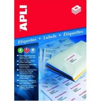 Etykiety uniwersalne APLI AP2412 199,6x289,1mm zaokrąglone rogi białe 100ark.