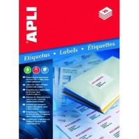 Etykiety uniwersalne APLI AP2415 63,5x46,6mm zaokrąglone rogi białe 100ark.