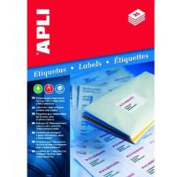 Etykiety uniwersalne APLI AP2421 99,1x93,1mm zaokrąglone rogi białe 100ark.