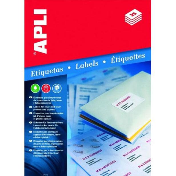 Etykiety uniwersalne APLI AP3135 70x37mm białe 100ark.