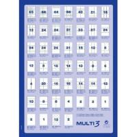 Etykiety uniwersalne MULTI 3 AP10493 63,5x72mm 100ark.