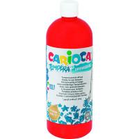Farba Carioca tempera 1000 ml czerwona