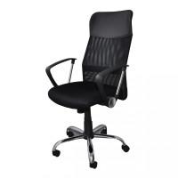 Fotel biurowy Office Products Corfu, czarny