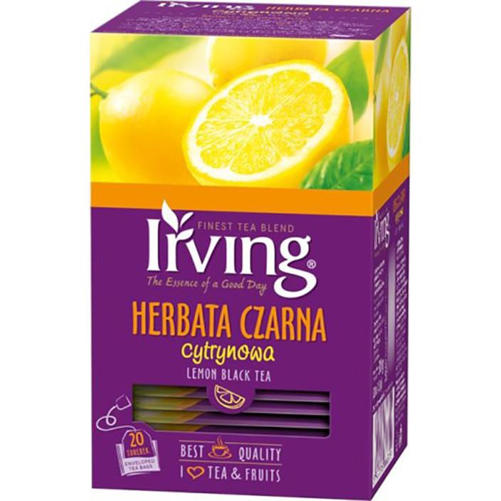 Herbata ekspresowa IRVING czarna cytrynowa 20szt.