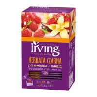 Herbata ekspresowa IRVING czarna poziomka z wanilią 20szt.