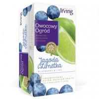 Herbata ekspresowa IRVING Owocowy Ogród jagoda i limetka 20szt.