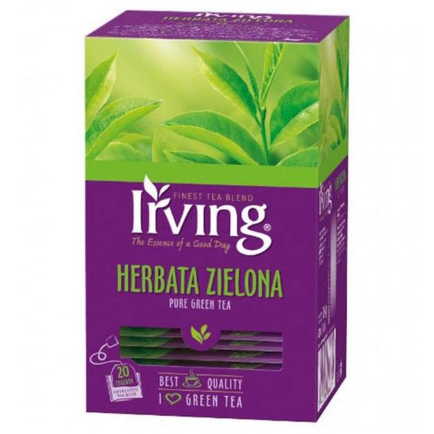 Herbata ekspresowa IRVING zielona 20szt.
