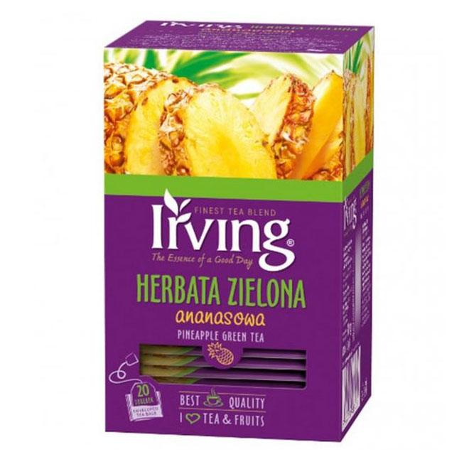 Herbata ekspresowa IRVING zielona ananasowa 20szt.