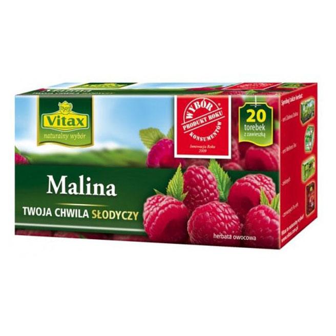 Herbata ekspresowa VITAX Malina 20szt.