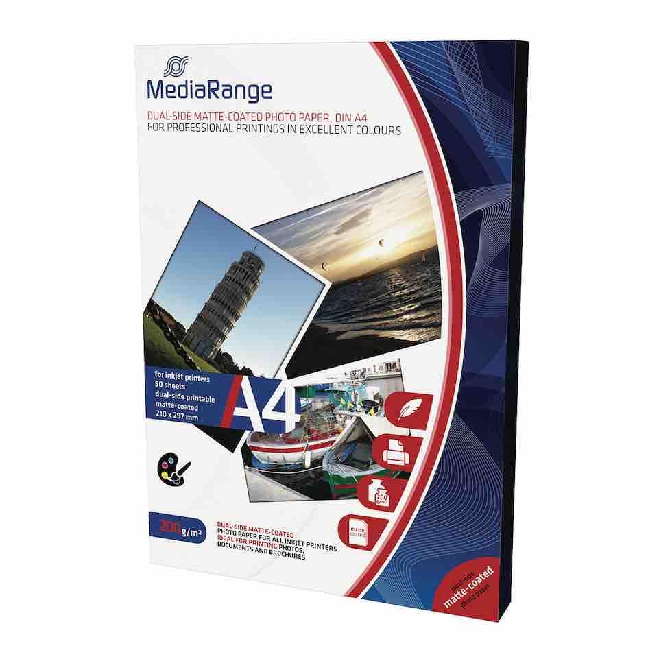 papier fotograficzny do drukarki Mediarange format A4