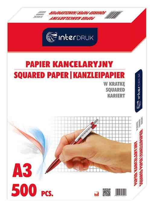 Papier kancelaryjny Interdruk kratka A3
