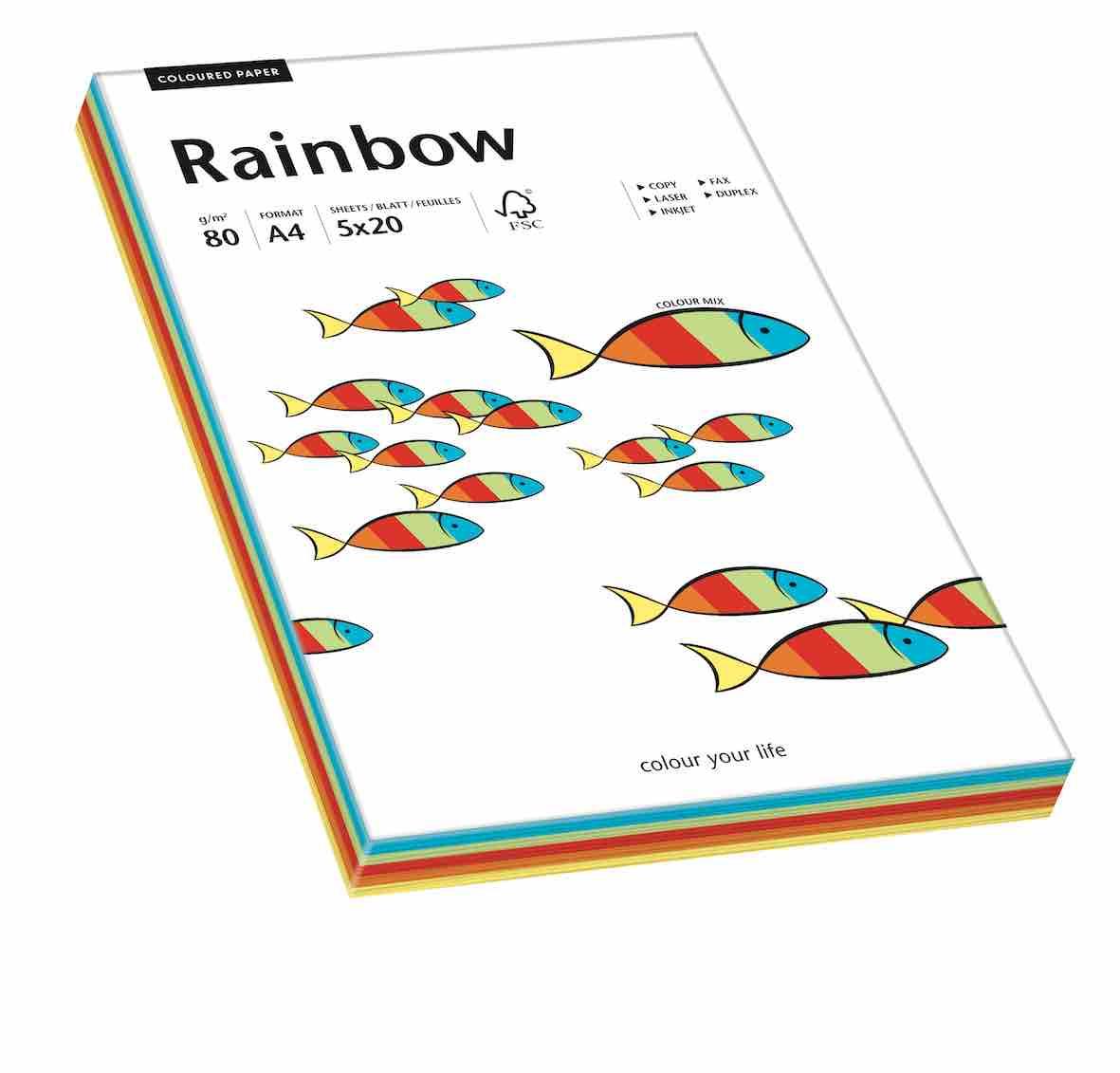 ryza papieru kolorowego Rainbow papier kolorowy
