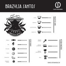 Kawa ziarnista CAFE PANAMERA Brazylia Santos 1kg