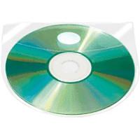 Kieszeń samoprzylepna Q-CONNECT na 2 płyty CD/DVD 10szt.