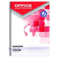 Kołonotatnik OFFICE PRODUCTS A5 80k w kratkę