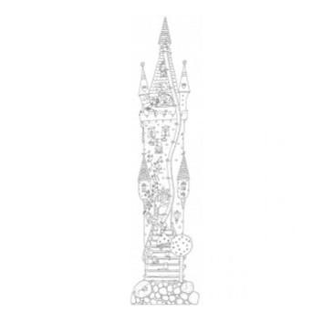 Kolorowanka miarka wzrostu Monumi 160x40cm zamek księżniczek