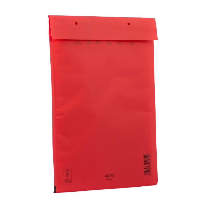 Koperta bąbelkowa G/17 250x350mm AirPro Color czerwona 100szt.