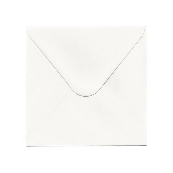 Koperta ozdobna 160x160 Galeria Papieru Gładka biała 10szt.