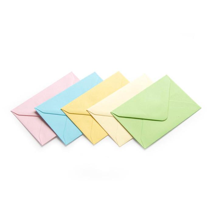 Koperta ozdobna 70x100 satynowana mix kolorów pastelowych 50szt.