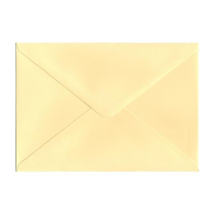 Koperta ozdobna C5 Galeria Papieru gładka kremowa 10szt.