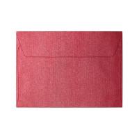 Koperta ozdobna C6 Galeria Papieru Pearl czerwona 10szt.