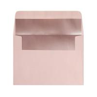 Koperta ozdobna C6 Galeria Papieru różowa z metalizowanym środkiem 10szt.