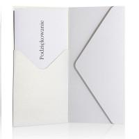 Koperta ozdobna DL/SP Galeria Papieru Pearl biała 5szt.