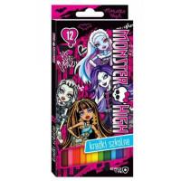 Kredki Bambino St.Majewski 12 kolorów trójkątne Monster High