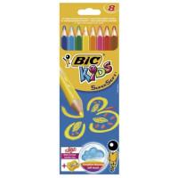 Kredki Bic supersoft 8 kolorów + temperówka