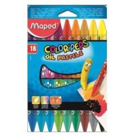 Kredki pastele olejne Maped 18 kolorów