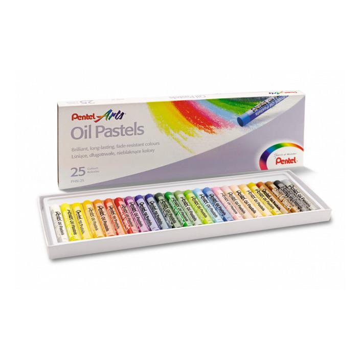 Kredki pastele olejne PENTEL 25 kolorów