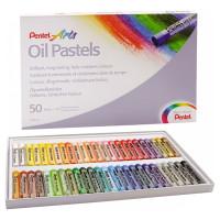 Kredki pastele olejne PENTEL 50 kolorów