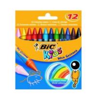 Kredki świecowe Bic 12 kolorów w pudełku